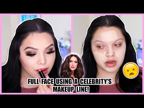TESTING OUT CELEBRITY MAKEUP LINE | Salma Hayek
