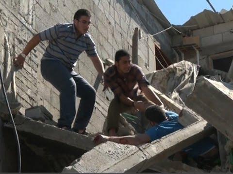 Raw: Israeli Airstrike Kills 10 in Gaza Strip