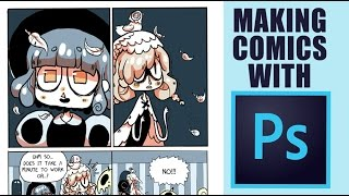 COMIC ART IN PHOTOSHOP [How to Make Webcomics Part 1]