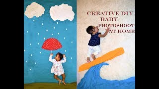 Creative Baby Photoshoot at Home