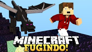 MINECRAFT - FUGINDO DO DRAGÃO!