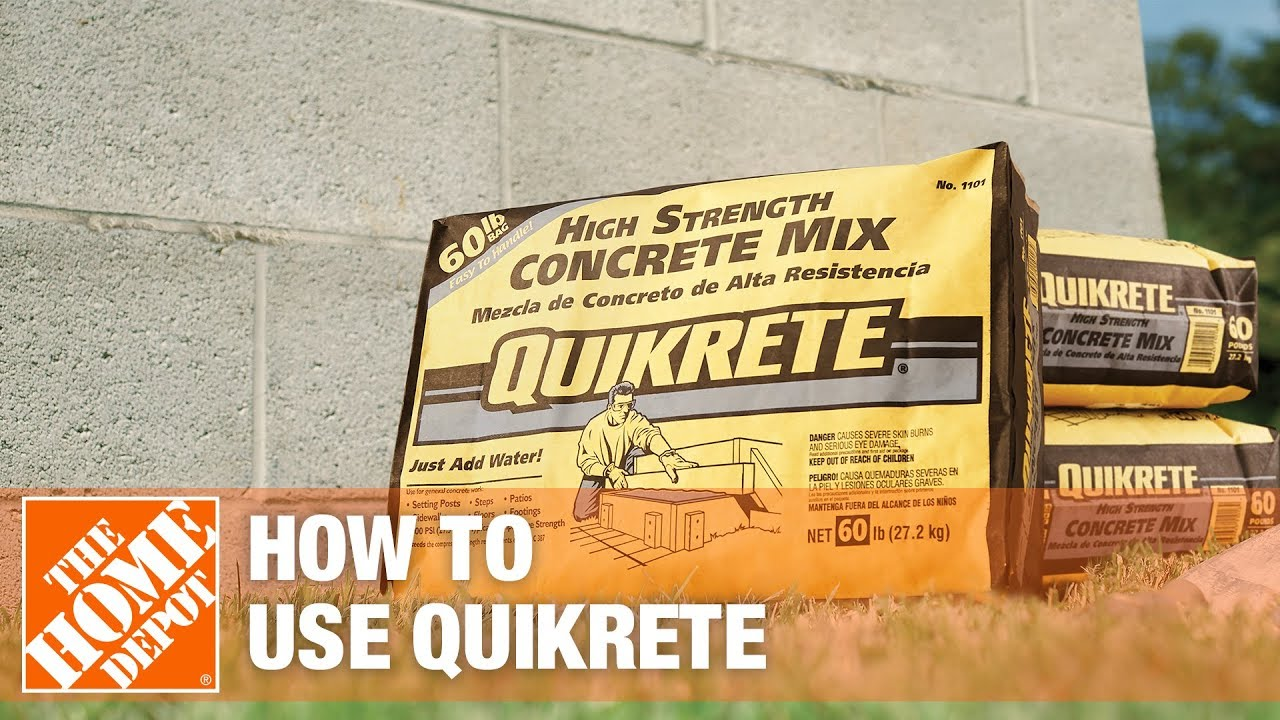 Concrete Mixing Bag : Quikrete concrete youtube