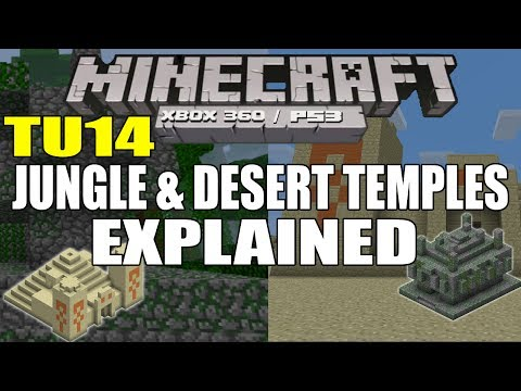 Minecraft [PS3 / XBOX360] TU14 Features - Jungle & Desert Temples Explained (TU14 Confirmed)