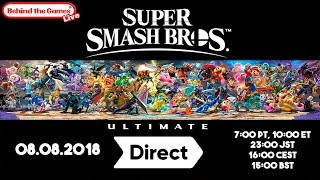 🔴 SUPER SMASH BROS Ultimate DIRECT 08.08.2018 | Directo en ESPAÑOL