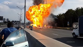 [Russian Truck Gas Explosions] Video