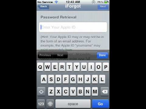 How to retrieve your password from apple id