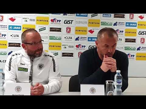 Tisková konference po utkání FC Hradec Králové - SK Dynamo České Budějovice 1:0