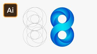 Swirling Infinite Logo Design in Illustrator