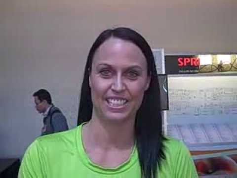 Amanda Beard: Olympic Gold Medalist Swimmer at 2014 IHRSA Show