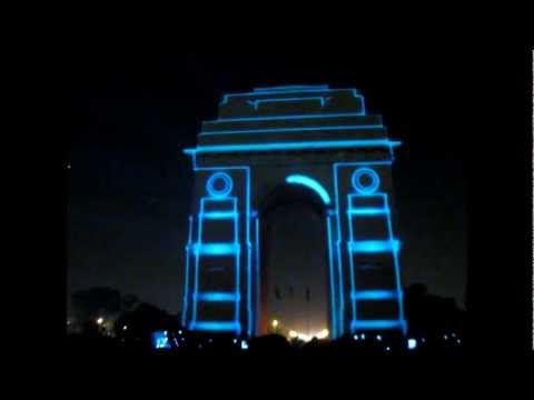3D mapping on INDIA GATE  (a 3D show By- MidasNext)