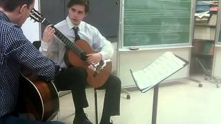 Denis Azabagic teaches Choros No  1 by H  Villa Lobos