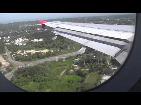 Air Asia Landing at Brunei Airport