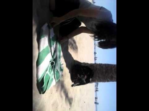 Como doblar una toalla en la playa