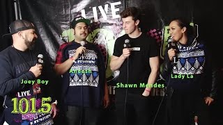 Shawn Mendes Jingle Bash Interview  - LIVE 101.5