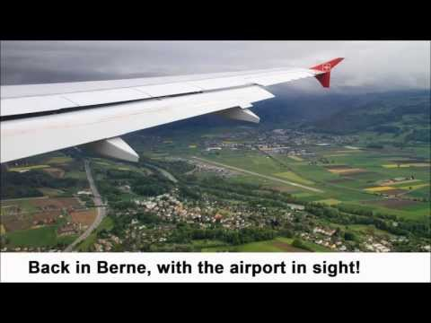 Taking off and landing in Berne in Helvetic Airways' new Airbus A319