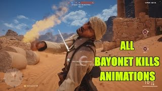 BATTLEFIELD 1 - ALL BAYONET CHARGE KILLS ANIMATION [VIOLENT]