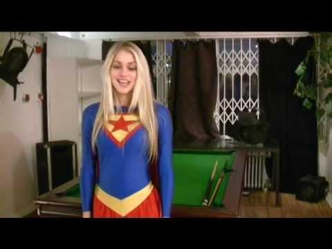 Nicole Neal in her Supergirl costume - YouTube