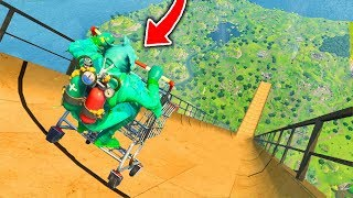 Top 5 MOST INSANE Shopping Cart STUNTS IN FORTNITE!