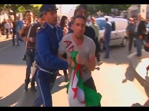 Police Break Up Protest against Algerian President
