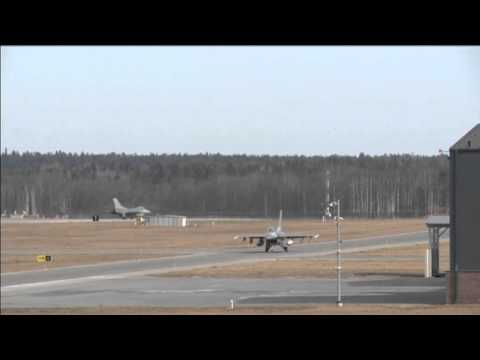 NATO Jets: US F-16 jets simulate air strikes in Estonia drills to combat Russian threat