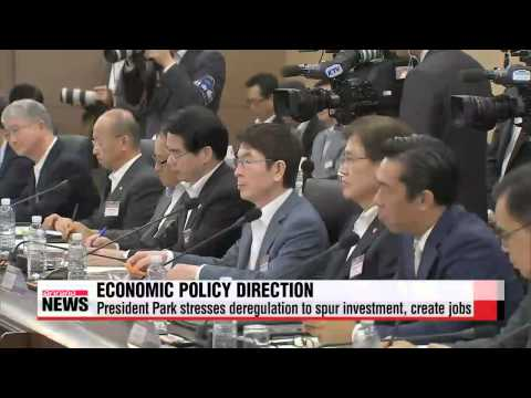 President Park stresses need to spur investment, domestic demand during ministerial meeting