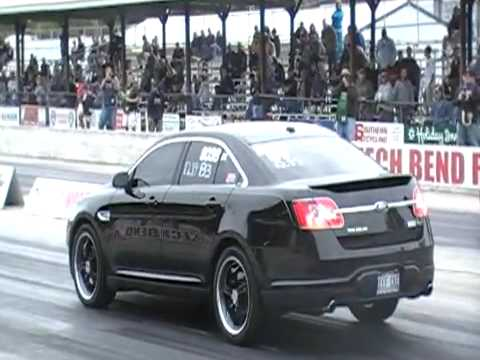 2010 Ford Taurus SHO Runs worlds first 12 second pass in the quarter mile!  12.75@108