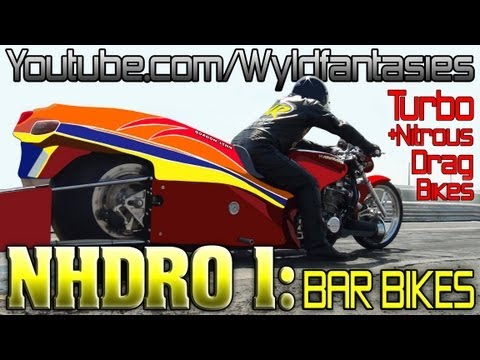 NHDRO 1: Turbo and Nitrous vs Supercharged dragbike bar bike motorcycle drag racing