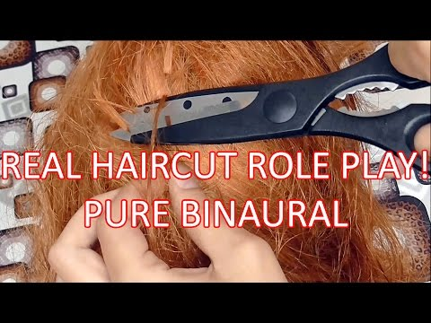 Pure Binaural ASMR REAL Haircut Role Play on 3Dio Free Space. Hair salon hairdresser. Soft spoken.
