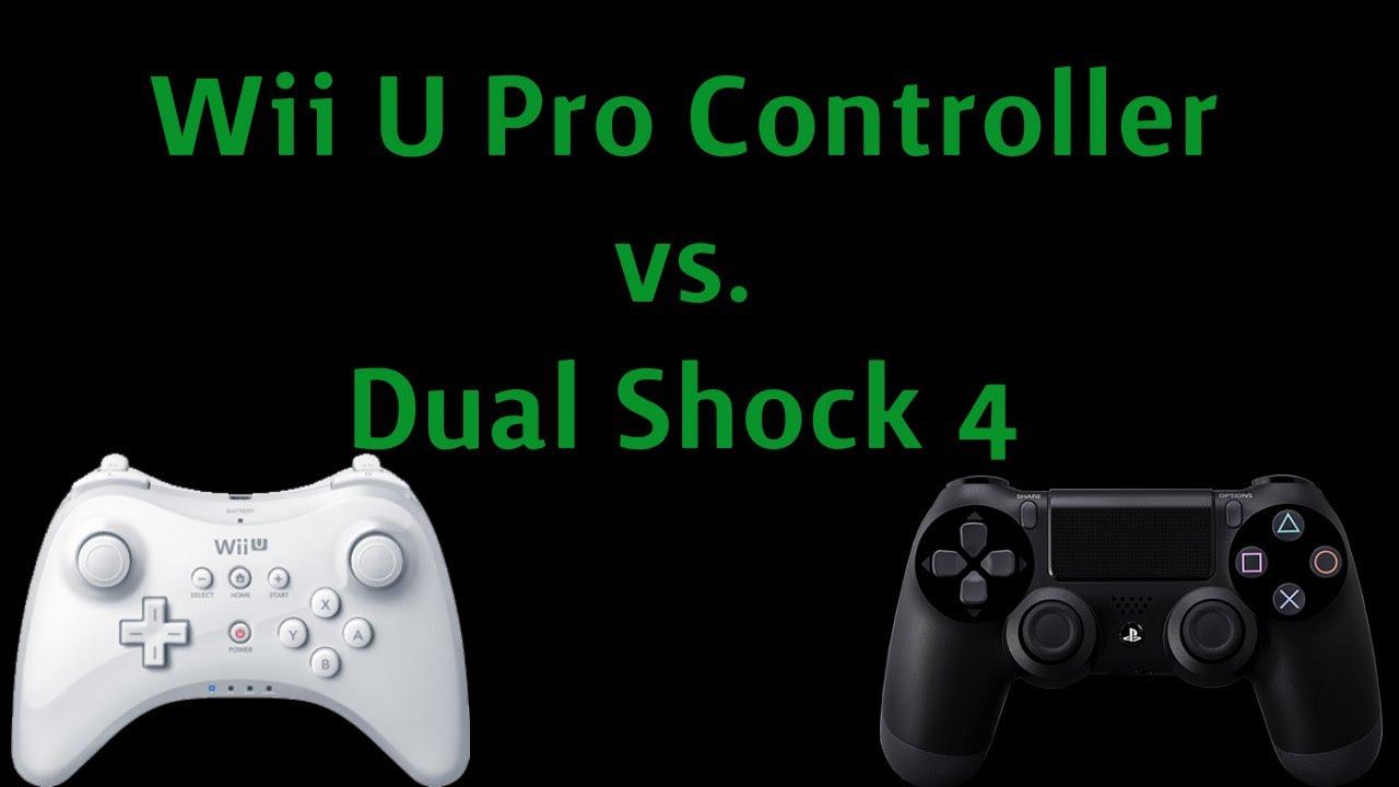 Xbox 1 Vs Ps4 Vs Wii U PS4 Controller vs  Wii U Pro