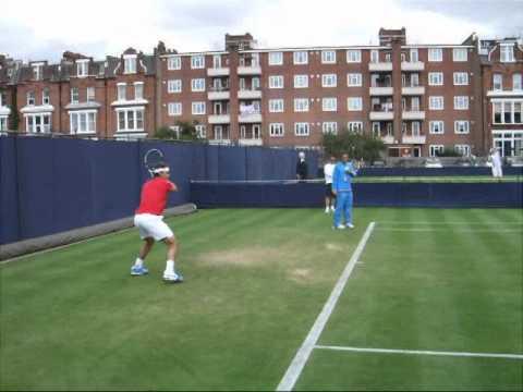 Rafael ナダル Practice Aegon Queens テニス Championship 2011 Part 2
