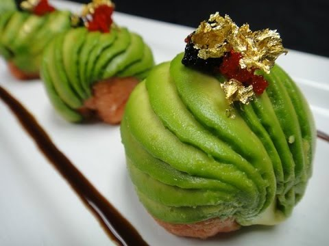 Amazing edible art spicy tuna bon bon how to make for Nove kitchen and bar