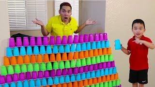 Lyndon Pretend Play Building GIANT Cup Pyramid Wall