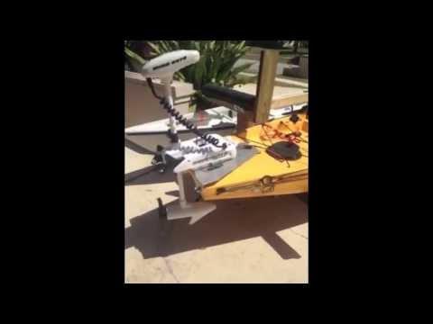 Florida Kayak Anglers Custom 55lb Thrust I-Pilot Trolling Motor Mounted to Hobie Pro Angler.
