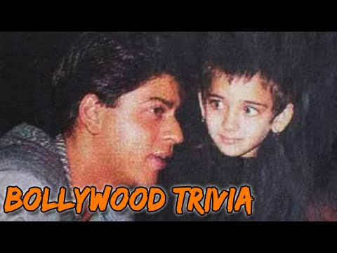 Shahrukh Khan With His Youngest 'fan'   Bollywood Trivia video