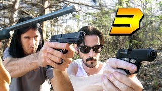 3 GUNS VERSUS 2 ZOMBIES IN REAL LIFE!
