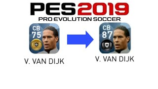 Pes 2019 Mobile All GOLD to BLACK Ball Player Upgraded Ratings by KONAMI Pes 2019 Mobile