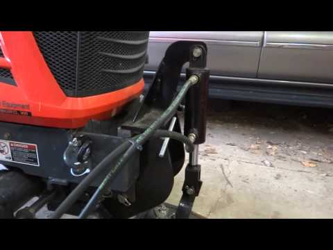 Kubota BX-24 Removing Snowblower, and Installing Loader
