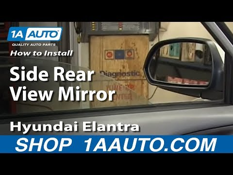 How To Install Replace Side Rear View Mirror 2001-06 Hyundai Elantra