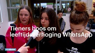Tieners boos om leeftijdsverhoging: 'WhatsApp is mijn leven' - RTL NIEUWS