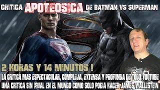 Batman vs Superman - Batman contra Superman (2016) critica de James Wallestein