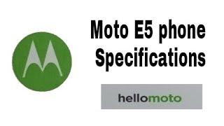 Motorola Moto E5 phone specifications!![Hindi]
