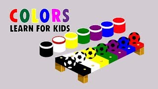 Learn Colors with Surprise Soccer Balls Many Colors Soccer Balls for Kids and Toddlers Educational