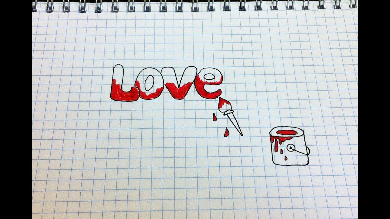 Рисунки ручкой в тетради для срисовки