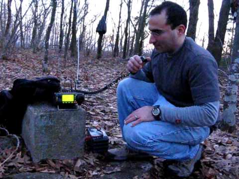 W2/EH-002 Harvey Mountain, Tom, N2YTF works G0HNW on 60 meters, 5.4035 USB