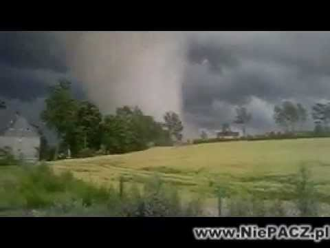 Tornado, Trąba Powietrzna 14 07 2012 Barlewiczki, Poland