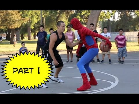 Spiderman Plays Basketball.... Amazing Spiderman 2 video