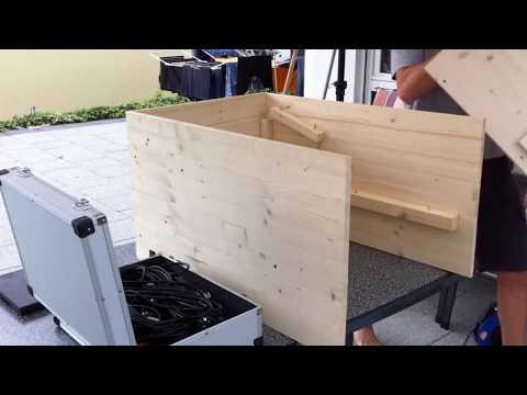Aufbau DJ und Licht-Equipment