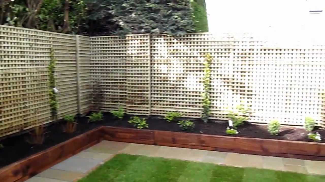 Garden Borders Using Sleepers : Lanscaping contract and garden design for foxrock co dublin