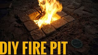 DIY Fire Pit with Adjustable Draft (for under $50!)