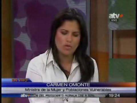 Entrevista a la ministra de la Mujer Carmen Omonte. (Canal 17)